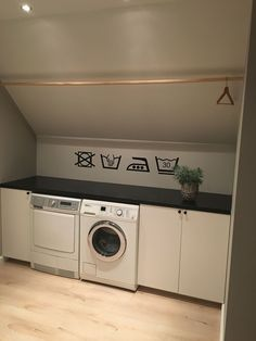 Cabinets and counter top from Ikea. Laundry templates are interior sticke . Interior Design Living Room, Living Room Designs, Ikea Interior, Laundry Room Cabinets, Ikea Laundry, Laundry Room Inspiration, Paint Colors For Living Room, Small Room Bedroom, Laundry Room Design