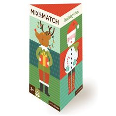Holiday Fun Mix & Match: Make a snowman, make a Santa, or make a Snowta! The Petit Collage Mix & Match Holiday Fun cards can be arranged to create eight Christmas themed characters, or rearranged to create your own silly Christmas friends!