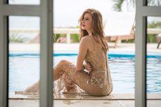 A piscina da mansão também é cenário (Foto: Fabiano Battaglin / Gshow)