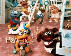 The idea for the animated series Muppet Babies , came from the dream sequence in the film The Muppets Take Manhattan .