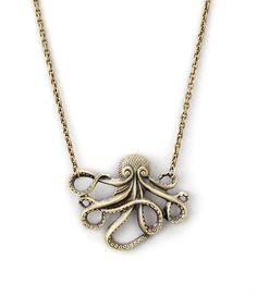 Look at this #zulilyfind! Goldtone Octopus Pendant Necklace by ZAD #zulilyfinds