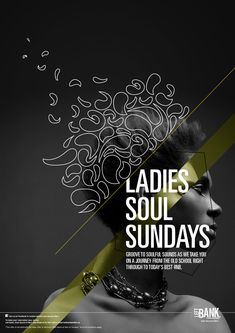 Soul Sundays at Left Bank / Music Poster by Mahya Soltani, via Behance