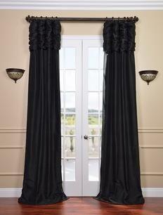 Black Curtains, Curtains U0026 Drapes, Drapery, Window Coverings, Window  Treatments, Black Windows, Black Home, Half Price, Home Home