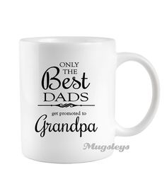 Only the Best Dads get promoted to Pawpaw coffe mug fathers day gift, grandpa, grandfather, birth announcement