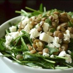 6 praktikus tipp, hogy fantasztikus legyen a salátád | Nosalty Proof Of The Pudding, Lentil Salad, Salad Dressing Recipes, Meatless Monday, Lentils, Tofu, Feta, Green Beans, Potato Salad