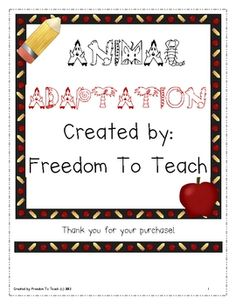 10 days worth of lesson plans and activitiesVocabulary activityPhysical Adaptation activity (with answers)Animals Migration brace map (with a...