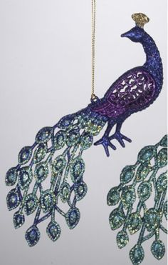 8 Regal Peacock Purple Glittered Bird Christmas Ornament * Check out this great product.