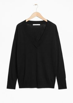Other Stories image 1 of Silk Blend Sweater in Black