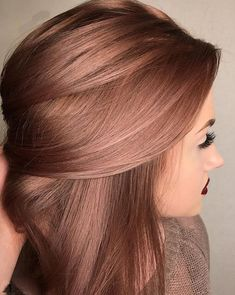 18 Winter Hair Color Ideas Ombre, Balayage Hair Styles Rose Gold Is the Perfect Rainbow Hair Hue For Spring and Winter 2016 – 2017 - Unique World Of Hairs Winter Hairstyles, Pretty Hairstyles, Latest Hairstyles, Hairstyle Ideas, Rainbow Hairstyles, Wedding Hairstyles, Female Hairstyles, Blonde Hairstyles, Easy Hairstyle