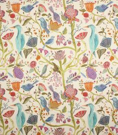 Voyage Decoration Lindu Fabric / Summer Ecru - a beautiful new Voyage fabric