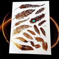 1PC Gold Silver Tattoo India Sun Moon Stars Waterproof Temporary Tattoo Sticker HCT126 Black Chain Bracelet Design Flash Tattoos