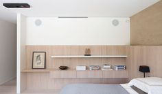 Bedroom by Belgian interior architects Aerts + Blower.