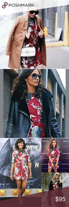 Zara jacquard patches dress Gorgeous celebrity fashion bloggers jacquard dress. Brand new with tag. No trades. Zara Dresses