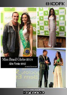Miss Brazil Globe 2014 usa Kodifik amamos in love Amanda Benvenutti dress Paulo Zulu