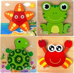 GBG Bib & Toys Safe Wooden Jigsaw Puzzles, Pack] Water Friends (Animals) Patterns Puzzles for Toddlers Kids Early Educational Toys Gifts, Teaching Aids for 1 2 3 Years Old Boys & Girls Educational Toys For Preschoolers, Best Educational Toys, Puzzle Games For Kids, Puzzles For Toddlers, Toddler Gifts, Toddler Toys, Toddler Preschool, Toddler Activities, 3 Year Old Toys