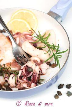 Calamari con capperi e rosmarino