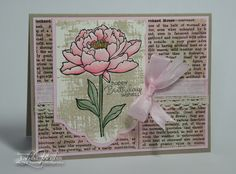 I've been busy coloring these beautiful flower from the You've Got This set. I masked the flower portion of this image before stamping...