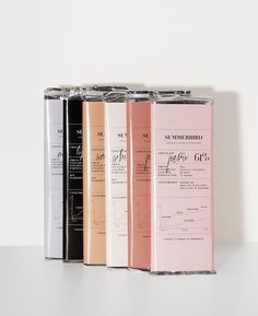 Packaging we like / Chocolate / Pastel Tones / Details / Aromas / Graph / Cosmetic Like / at fiona.