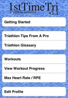 1st Time Tri - app for first triathlon training