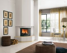 Corner Gas Fireplace Design Ideas concrete tile fireplace design ideas remodel pictures houzz Caminetto Granada Fireplace Modernfireplace Designcorner