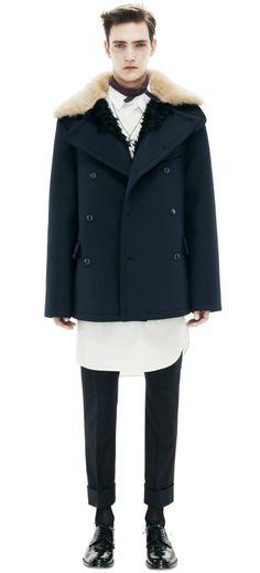 Acne Studios Ottawa Dark Navy in Blue for Men (navy) Navy Overcoat, Navy Coat, Chic For Men, Gents Suits, Swedish Fashion, Purple Jacket, Sharp Dressed Man, Casual Chic, Dress To Impress