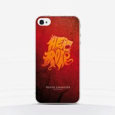 Phone Case Game of Thrones Lannister  iPhone by laTrendmania, $16.00 #GamesOfThrones #phonecase #iphone