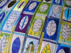 Angie Hughes - Angie's textile notes: Feathers and Leaves (detail)