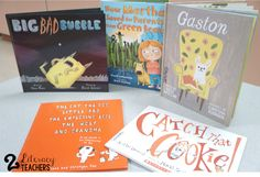 Five for Friday! by 2 Literacy Teachers! Book Suggestions, Gaston, Little Red, Literacy, Friday, Teaching, Children, Young Children, Boys
