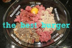 The Best Burger!  You probably have all of these ingredients on hand right now! www.nativetexanlivin.com