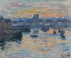 """Claude Monet (French, 1840–1926), """"Port of Dieppe, Evening,"""" 1882, oil on canvas"""