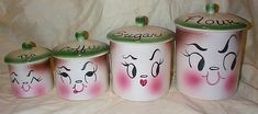 DeForest California pottery CANISTERS