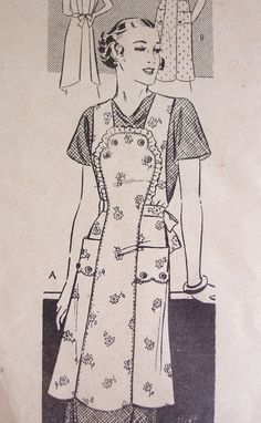 Vintage Apron Pattern  Gorgeous Anne Adams by FancyMyFabrics, $18.00