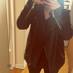 Zara genuine sheep leather jacket Long 100% sheep leather jacket. Missing tag but string still attached. Price decrease reflects last pictures zipper fix. Reasonable offers accepted Zara Jackets & Coats