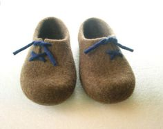 Handmade felted slippers / wool shoes / gift / eco friendly / non slippery soles.