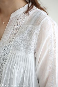 Best 12 Beautiful white top with lace, embroidery – SkillOfKing. Indian Fashion, Boho Fashion, Fashion Dresses, Fashion Tips, Fashion Design, Fashion 2020, 90s Fashion, Fashion Trends, Kurta Designs Women