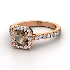 Smoky Quartz Diamond Ring by eve