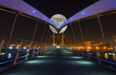 Moon Bridge, Salford Quays, Manchester, England