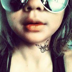 Girl w butterfly tattoo