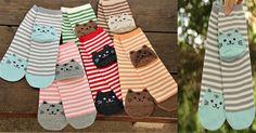 Cat's Meow Striped Socks Triple T Studios