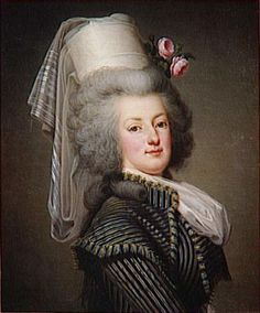 Marie Antoinette, Queen Consort of France; by Adolf Ulrich Wertmuller, c. Wife of King Louis XVI of France. Marie Antoinette, Louis Xvi, Era Georgiana, Riding Habit, French Royalty, Maria Theresa, Francis I, French History, 18th Century Fashion