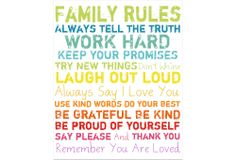 One Kings Lane - Refresh the Family Wall - Family Rules Giclée on Canvas, Small