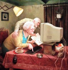 Marius van Dokkum, Dutch Artist and Illustrator Gifs, Dutch Painters, Gif Animé, Dutch Artists, Figure Painting, Getting Old, Contemporary Artists, Art History, Fine Art