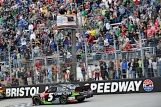 Kasey Kahne found Victory Lane at Bristol Motor Speedway for the first time in his NASCAR Sprint Cup Series career. The No. 5 Great Clips Chevy SS team led 109 laps to win the event.