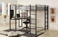 SHERMANFULL BED W/ WORKSTATION [CM-BK1098F]This bunk bed is a greatspace saver for smallerrooms. Sale for $806