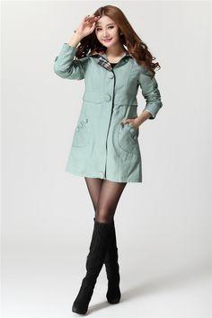 Korean Fashion Plus Size Wind Coat
