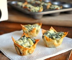 Spinach Artichoke Bites - the perfect little appetizer