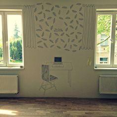 Prague's flat in Dejvice. Illustration by Katerina Kynclova. Interior Inspiration, Flat, Illustration, Design, Home Decor, Bass, Decoration Home, Room Decor