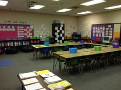 2nd Grade Stuff: Take a Tour of My Classroom  (Love the colors and set up.)