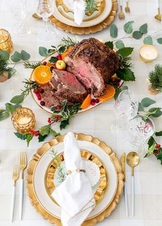 Dress up your holiday table with a delicious beef Rib Roast! 🎄🍽 I'm sharing tips for garnishing your beef Rib Roast serving… Beef Rib Roast, Roast Beef Recipes, Beef Ribs, Party Food For Adults, Ginger Bread House Diy, Food Network Recipes, Cooking Recipes, Cooking Channel Shows, How To Cook Beef