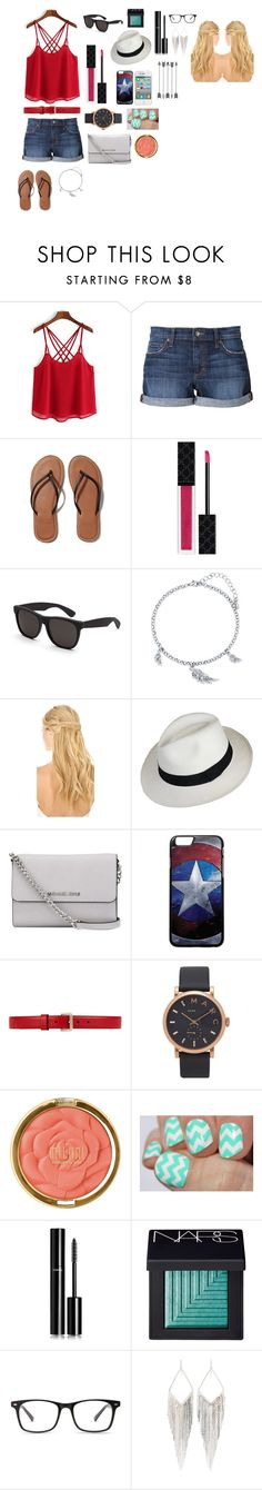 """""""Summer Outfit"""" by slytheringurl13 ❤ liked on Polyvore featuring Joe's Jeans, Abercrombie & Fitch, Gucci, RetroSuperFuture, BERRICLE, Pluie, MICHAEL Michael Kors, Marc Jacobs, Milani and Chanel"""